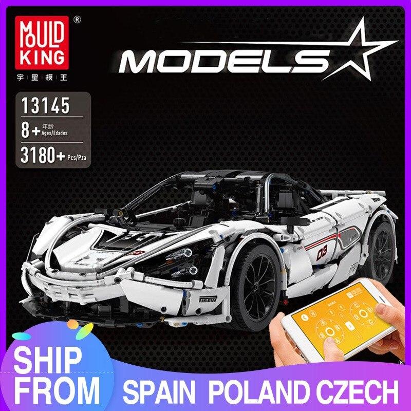 MOULD KING MOC Technic Series Super Speed Racing P1 Car Model Building Blocks Bricks Children Kids DIY Toys Christmas Gifts